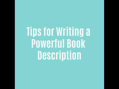 writing a powerful book description