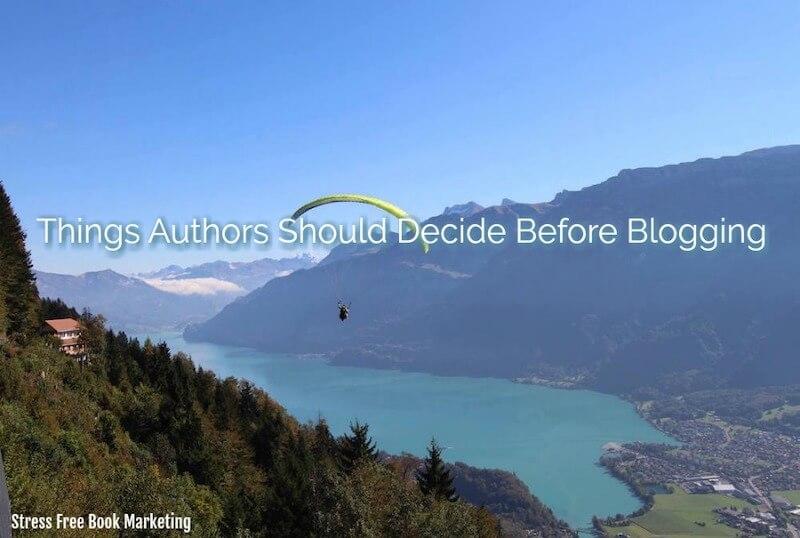decide before blogging